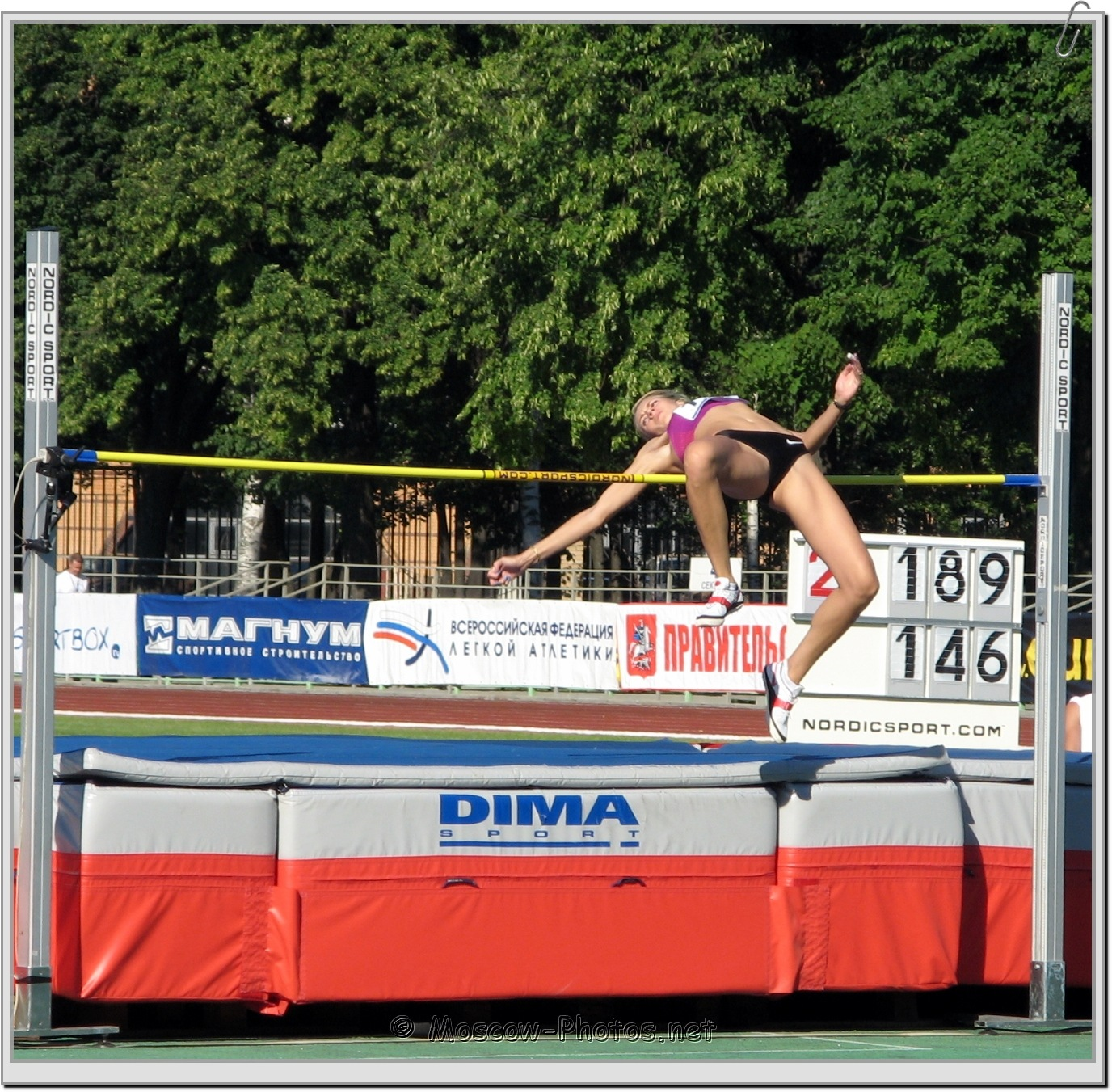 Fosbury Flop Technique at Moscow Athletics Open 2010
