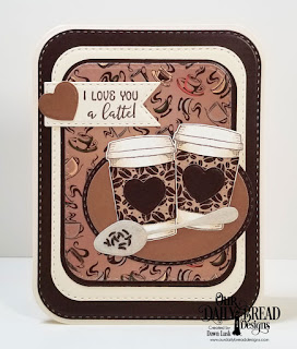 Our Daily Bread Designs Stamp/Die Duos: Hug In A Mug, Paper Collection: Latte Love, Custom Dies: Cups & Mugs, Ovals, Double Stitched Pennant Flags, Doubles Stitched Rounded Rectangles, Double Stitched Ovals, Rounded Rectangles
