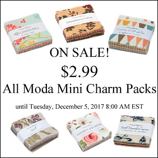 $2.99 Mini Charm Pack Sale - Crazy Quilt Girl Fabric Shop