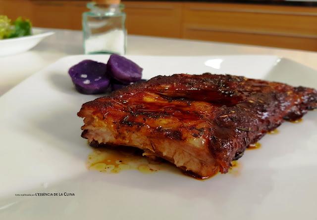 Costella, porc, Forn, patates violeta
