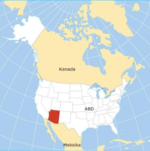 Arizona Amerika Harita