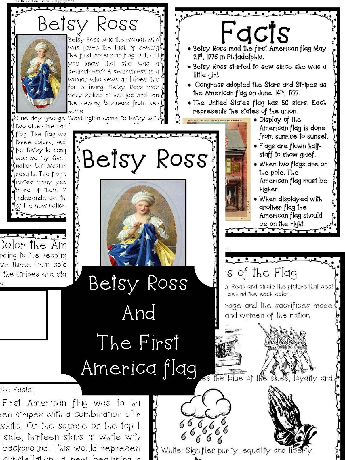 The Hermit Crabs Homeschool Betsy Ross And The American Flag
