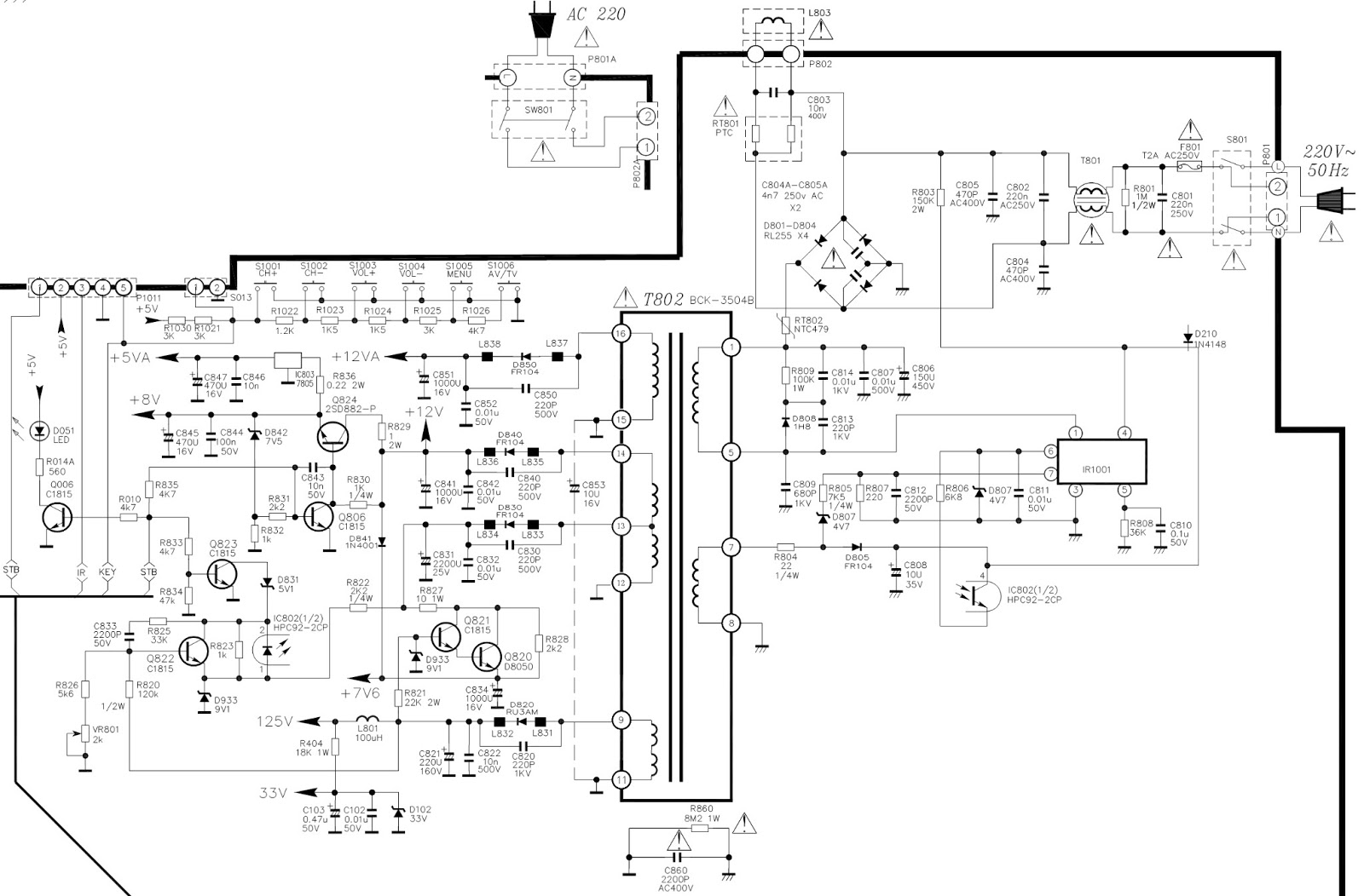 TCL  21V12S  SCHEMATIC DIAGRAM [Circuit Diagram] Using