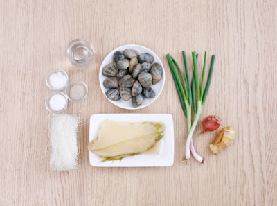 Miến nấu ngao đơn giản