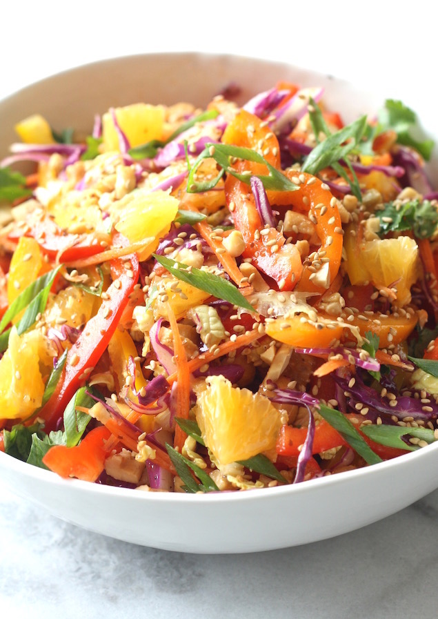Asian Cabbage Slaw by SeasonWithSpice.com
