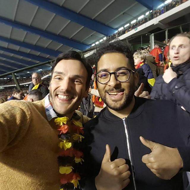 Vinz Kanté et Ben Heine au Stade Roi Baudouin avec Samsung Belgium