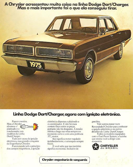Campanha que promovia a ignição eletrônica na linha Dodge na metade dos anos 70