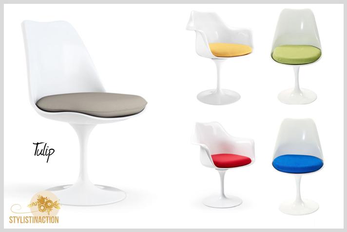 sillas de autor - cual es la indicada para cada casa - silla Tulip Eero Saarinen