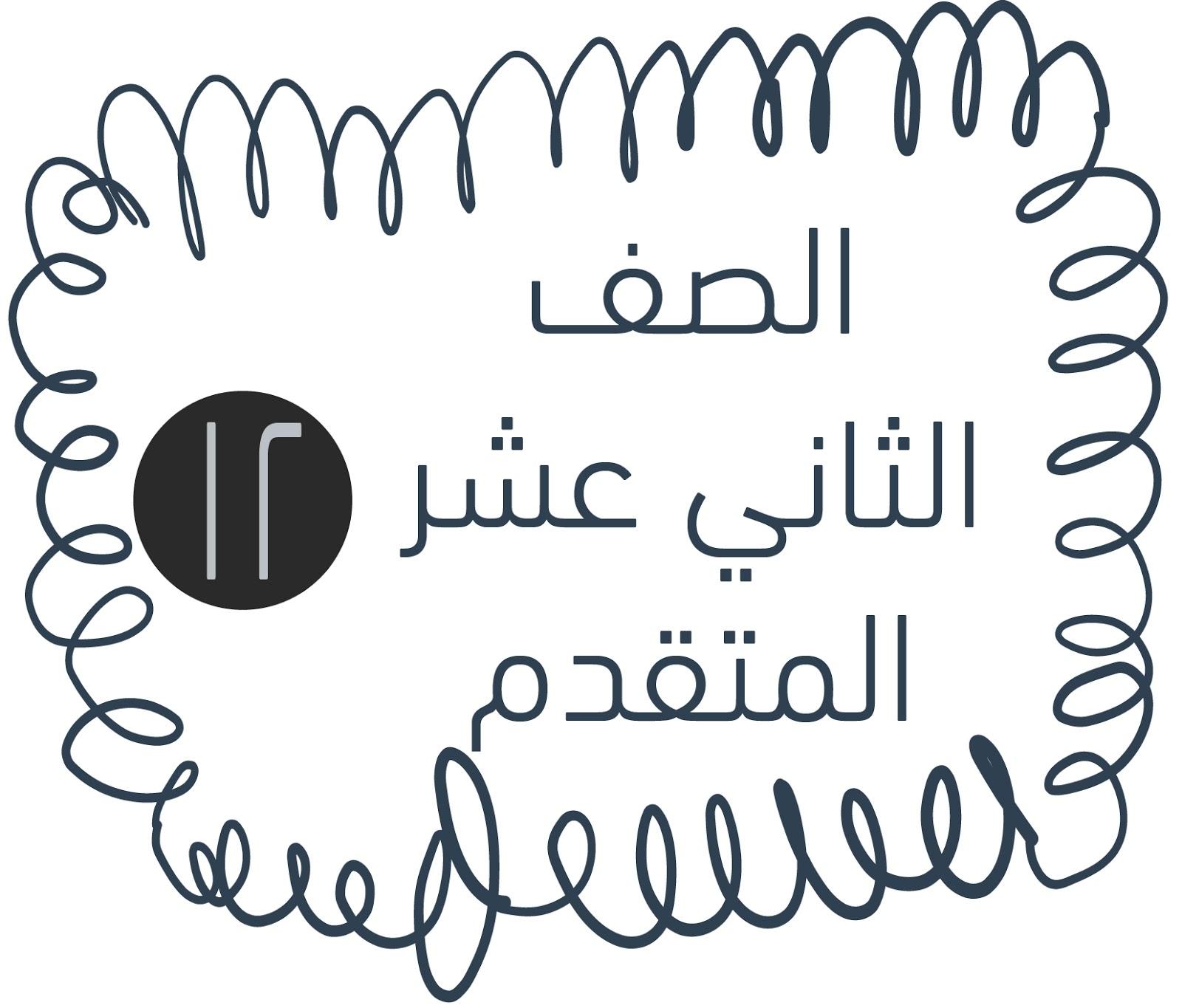 حروف ناسخة وتدريباتها لغة عربية صف ثاني عشر