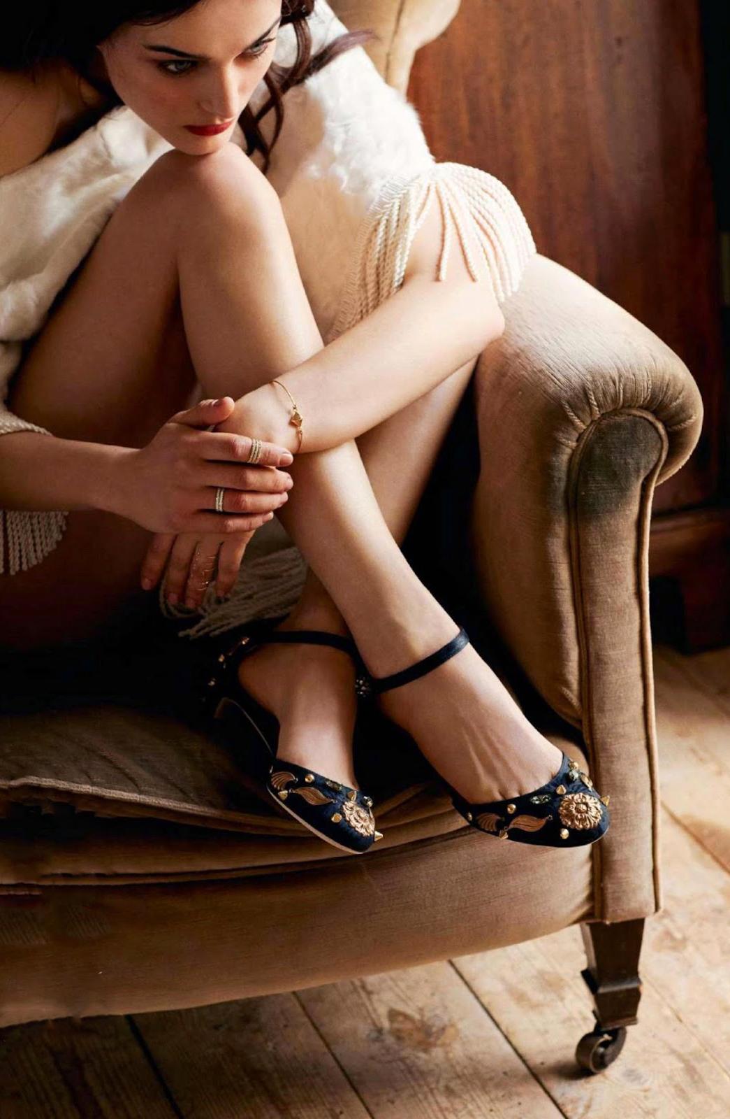 Sibui Nazarenko wearing Dolce&Gabbana shoes in La Belle Oisive / Elle France April 2015 (photography: Robert Wyatt, styling: Elissa Castelbou) via www.fashionedbylove.co.uk