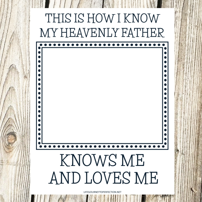 My Heavenly Father Loves Me Coloring Page