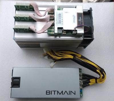 minero bitcoin + fuente de alimentación