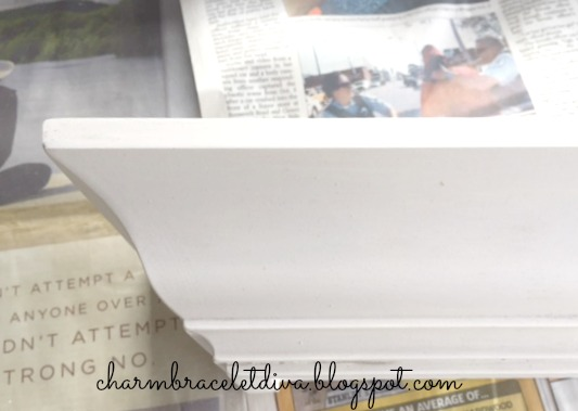 white chalk paint shelf