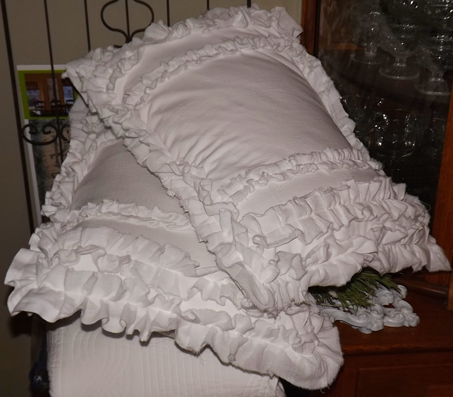 Shabby Chic Pillow Shams : camp and cottage living: Shabby Chic Bed Shams
