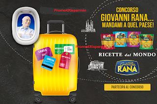 Logo Concorso ''Giovanni Rana mandami a quel paese: vinci gratis buoni sconto,borsoni viaggio e vacanze