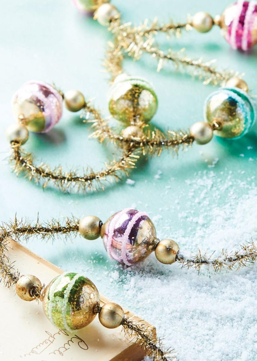 Raz Imports Ball Ornament Gold Garland