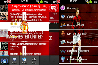 BBM MOD Manchester United MU for Android Gingerbread