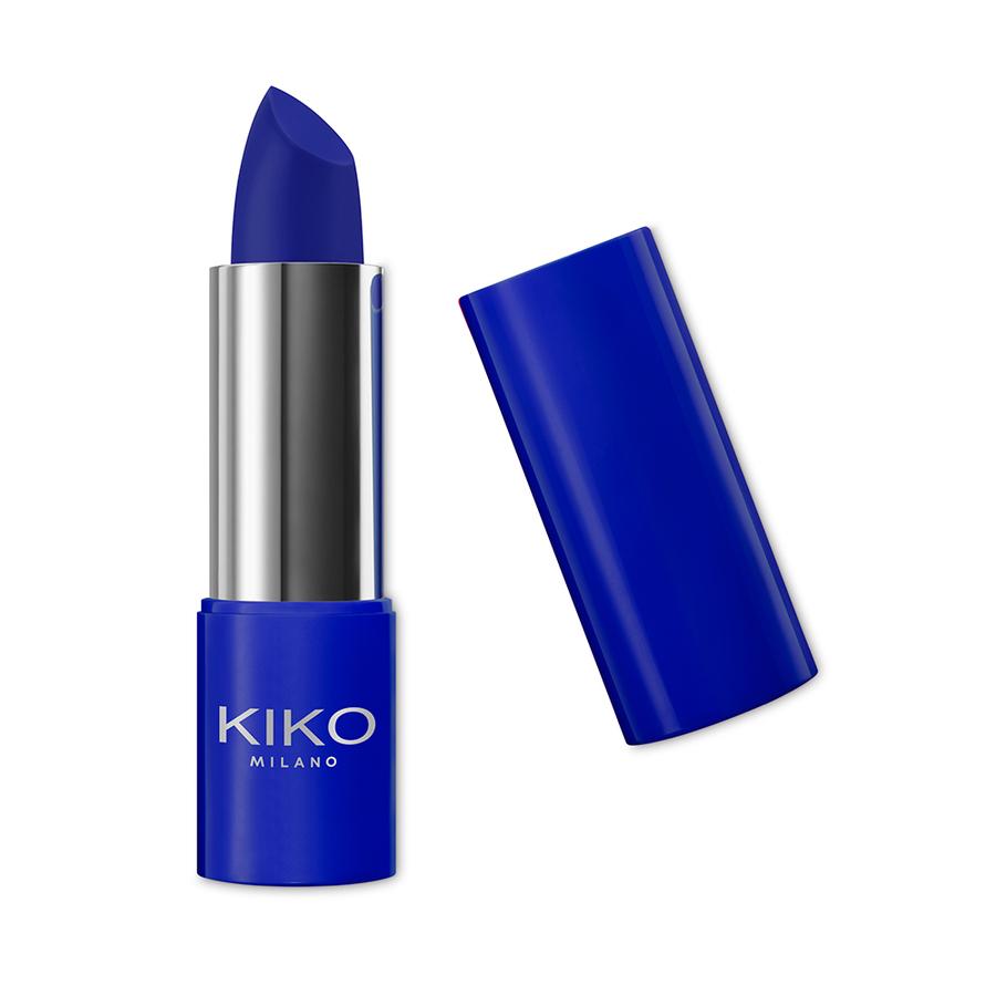 Capsule collection Mayo Active Fluo KIKO MILANO lipstick vigorous blue