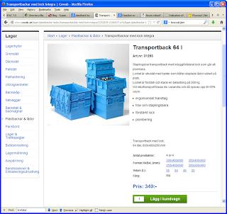 Transportback, av kraftig modell. Finns med lock
