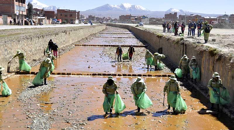 Falta de embovedado de ríos en El Alto provoca que se hayan convertido en botaderos de basura