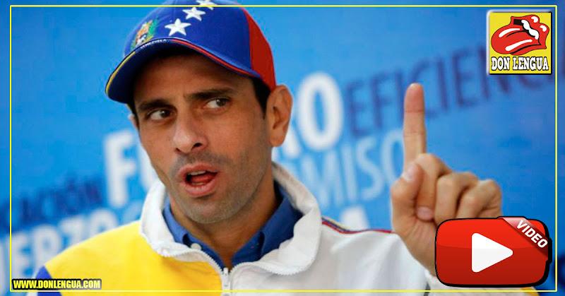 Henrique Capriles aseguró que no está en campana presidencial ( quién le preguntó? )