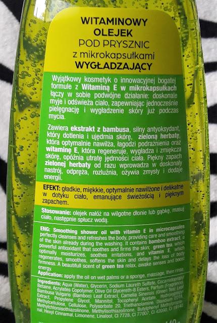 Bielenda witaminowy olejek pod prysznic z mikrokapsułkami wygładzający
