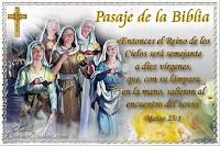 Resultado de imagen para El Reino de los Cielos será semejante a diez jóvenes