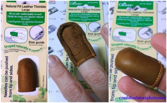 Conhiloslanasybotones: Dedal clover de piel