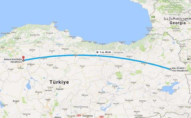 Ağrı'dan Ankara'ya uçak bileti