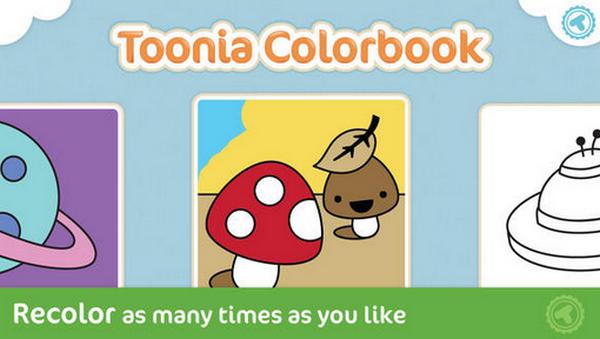 Toonia Colorbook Aplikasi Mewarnai iPhone Untuk Anak-Anak Gratis