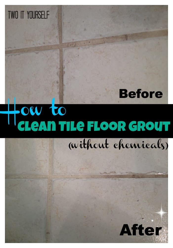 two it yourself how to clean tile floor grout without chemicals. Black Bedroom Furniture Sets. Home Design Ideas