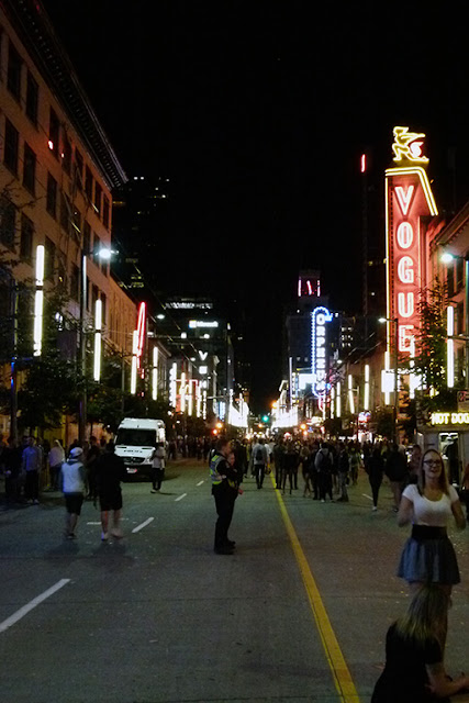 "Granville Street, the ""strip"""