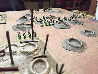 German trench raiders start their attack