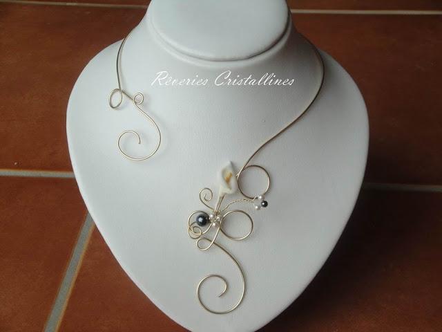 bijou mariée fleur d'arum
