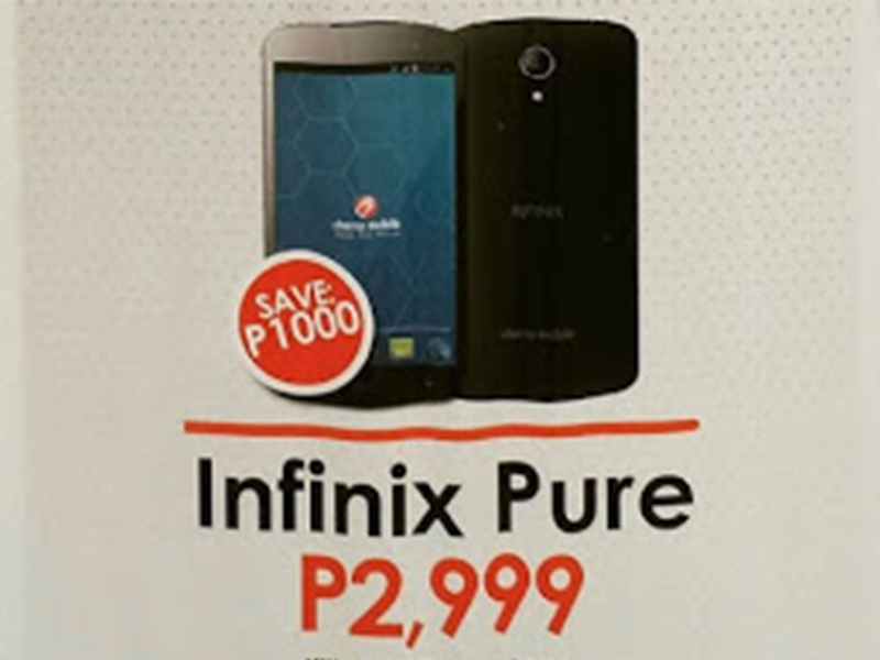 Cherry Mobile Infinix Pure Gets A Price Cut!