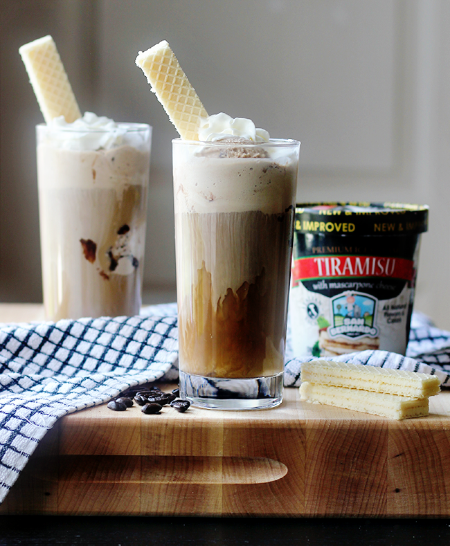 Tiramisu Ice Cream Floats