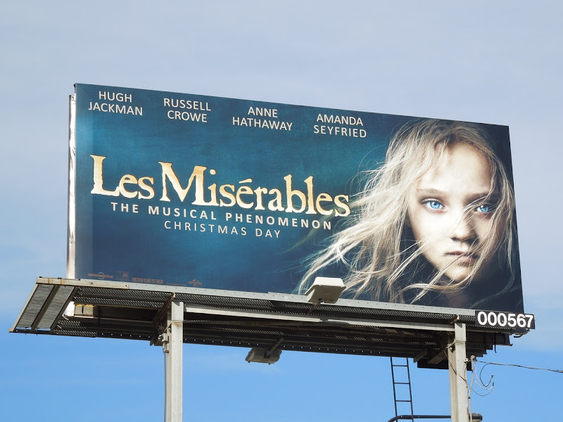 Les Misérables movie billboard