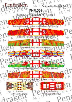 PNFL009 - Flodden English, sheet 1 (8 banners)