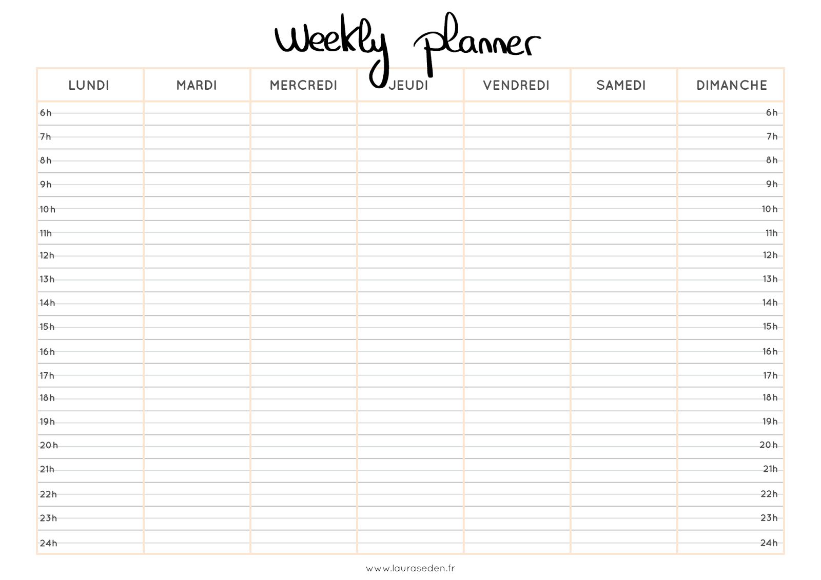 weekly planner a telecharger