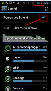 Cara Menampilkan Persentase Baterai di android