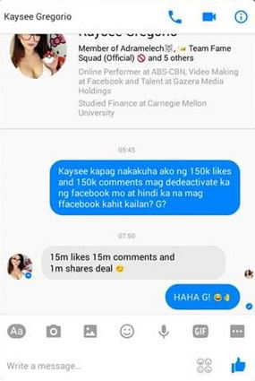 Dyoga Princess Kaysee Gregorio To Deactivate Facebook Page?