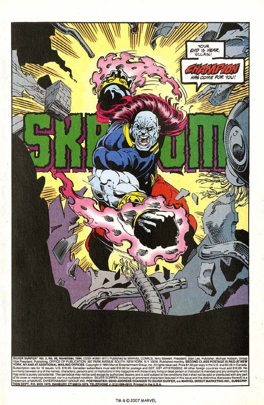 Read online Silver Surfer (1987) comic -  Issue #98 - 3