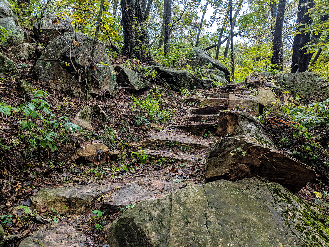 hand cut stone stairs