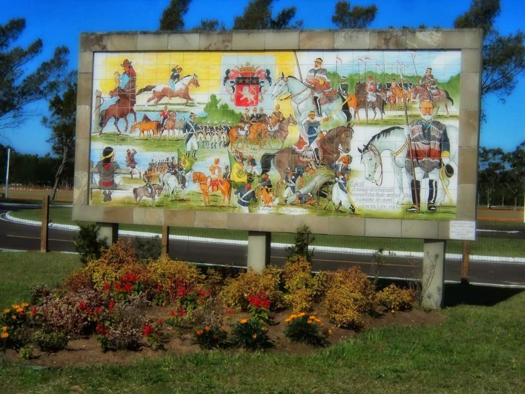 Monumento na Entrada do Parque Histórico Marechal Osório, na Cidade de Tramandaí