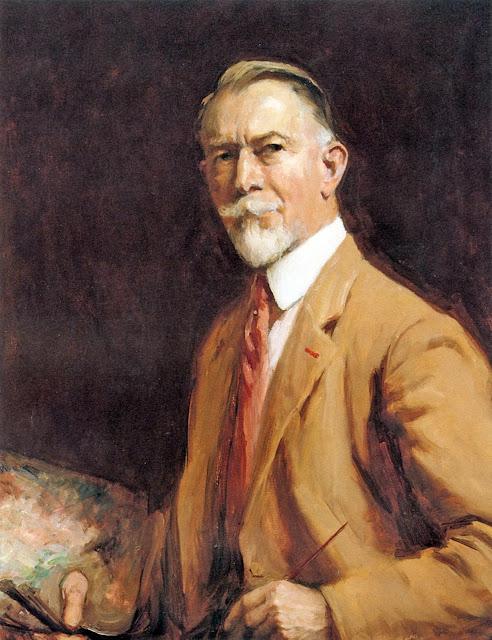Charles H. Woodbury, Self Portrait, Portraits of Painters,Charles Herbert Woodbury, Fine arts, Portraits of painters blog, Paintings of Charles H. Woodbury, Painter Charles H. Woodbury
