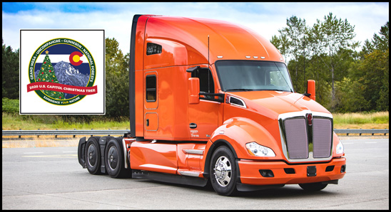 2020 US Capitol Christmas Tree Kenworth T680