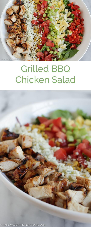 Easy Summer Dinner, Grilled BBQ Chicken Salad