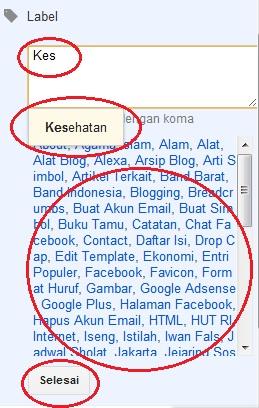 Cara Memberi Label Suatu Posting