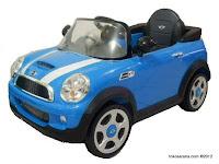 Mobil Mainan Aki Junior W446EQ Mini Cooper S Lisensi Blue