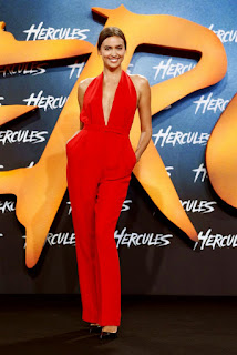 Irina Shayk Long Red Dress